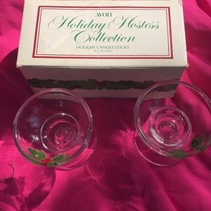 Vintage Avon collectible holiday candleholders